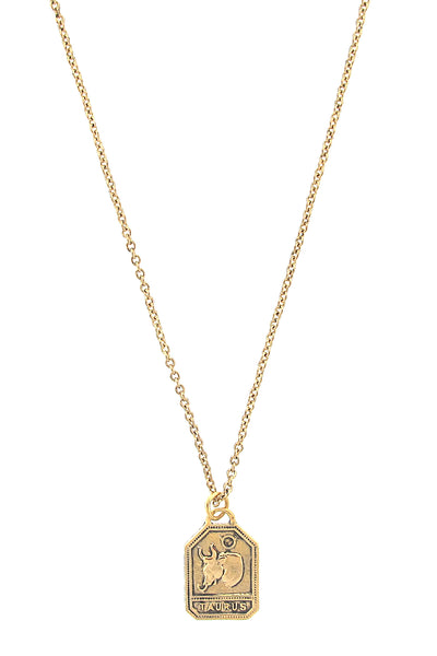 Zodiac Square Charm Necklace