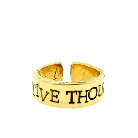 'Positive Thoughts' Ring