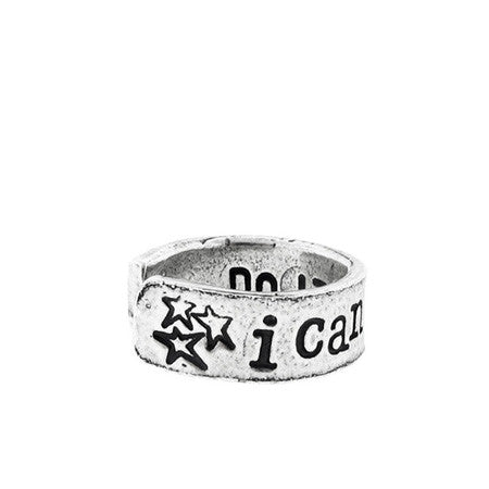 'I Can Do This' Silver Ring