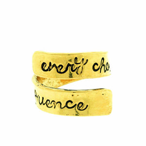 'Every Choice Has A Consequence' Twist Ring