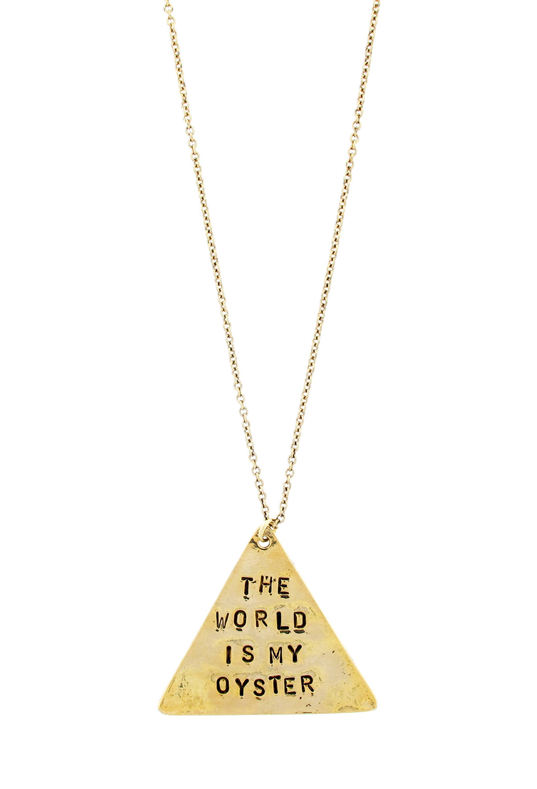 THE WORLD IS YOUR OYSTER NECKLACE