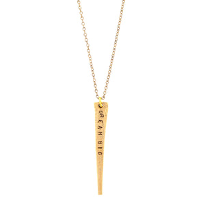 vintage railroad nail necklace