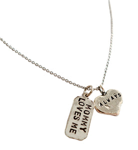 Mommy Loves Me Always 24/7 Necklace