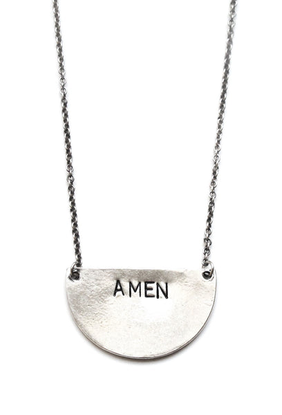'Amen' Half Circle Necklace