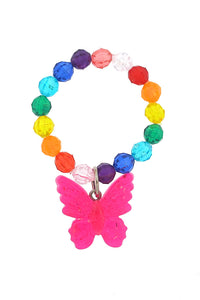 Butterfly Rainbow Resin Stretch Bracelet