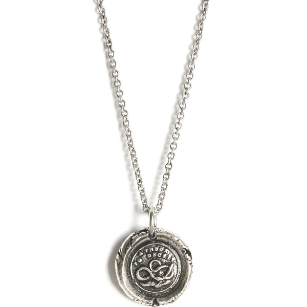 'A Truce to Deceit' Wax Seal Necklace