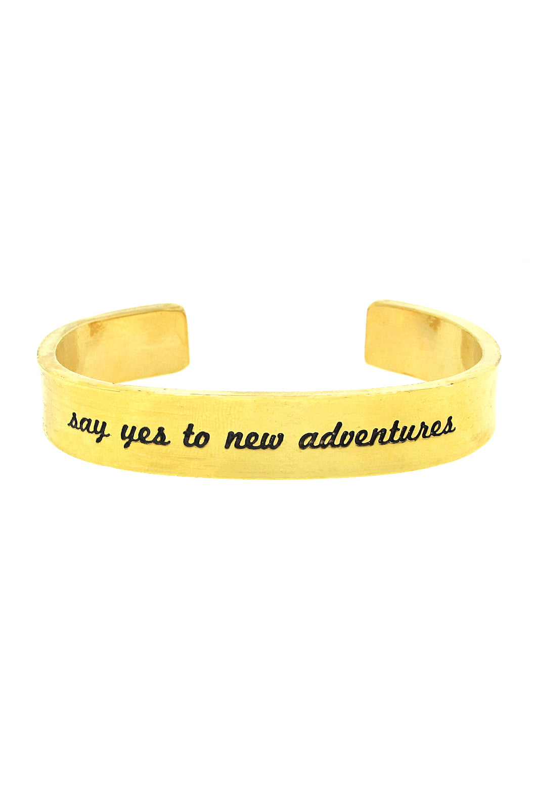 'Say Yes To New Adventures' Cuff