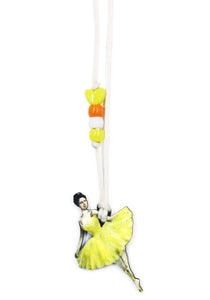 Yellow Ballerina Little Lessons Necklace