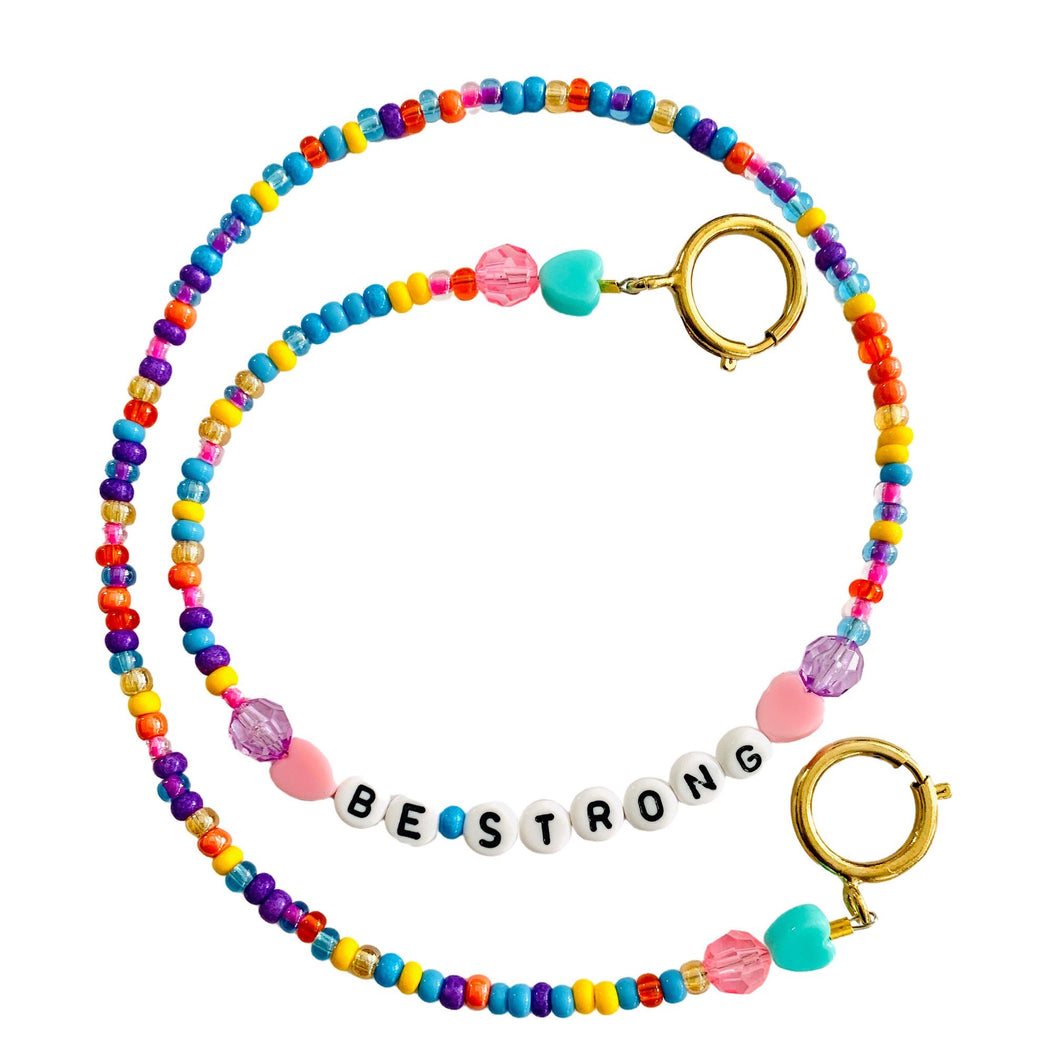 Be Strong Beaded Mask Chain