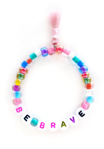 """Be Brave"" Words of Wisdom Stretch Bracelet"
