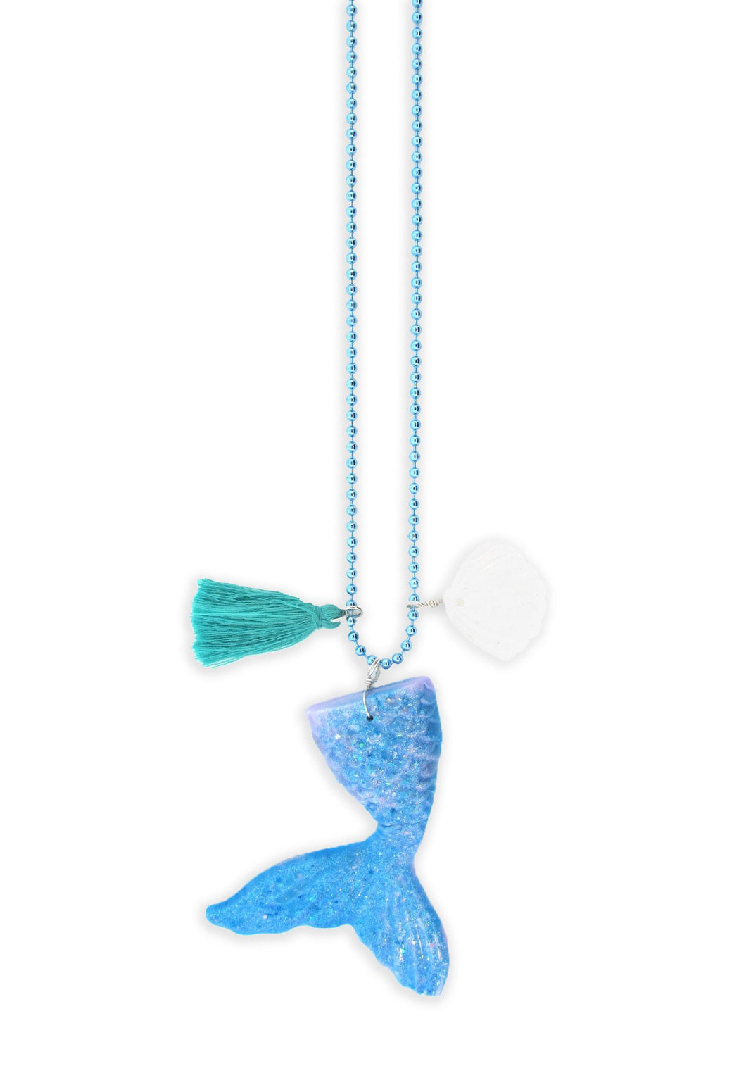 Mermaid Tail Necklace + Postcard