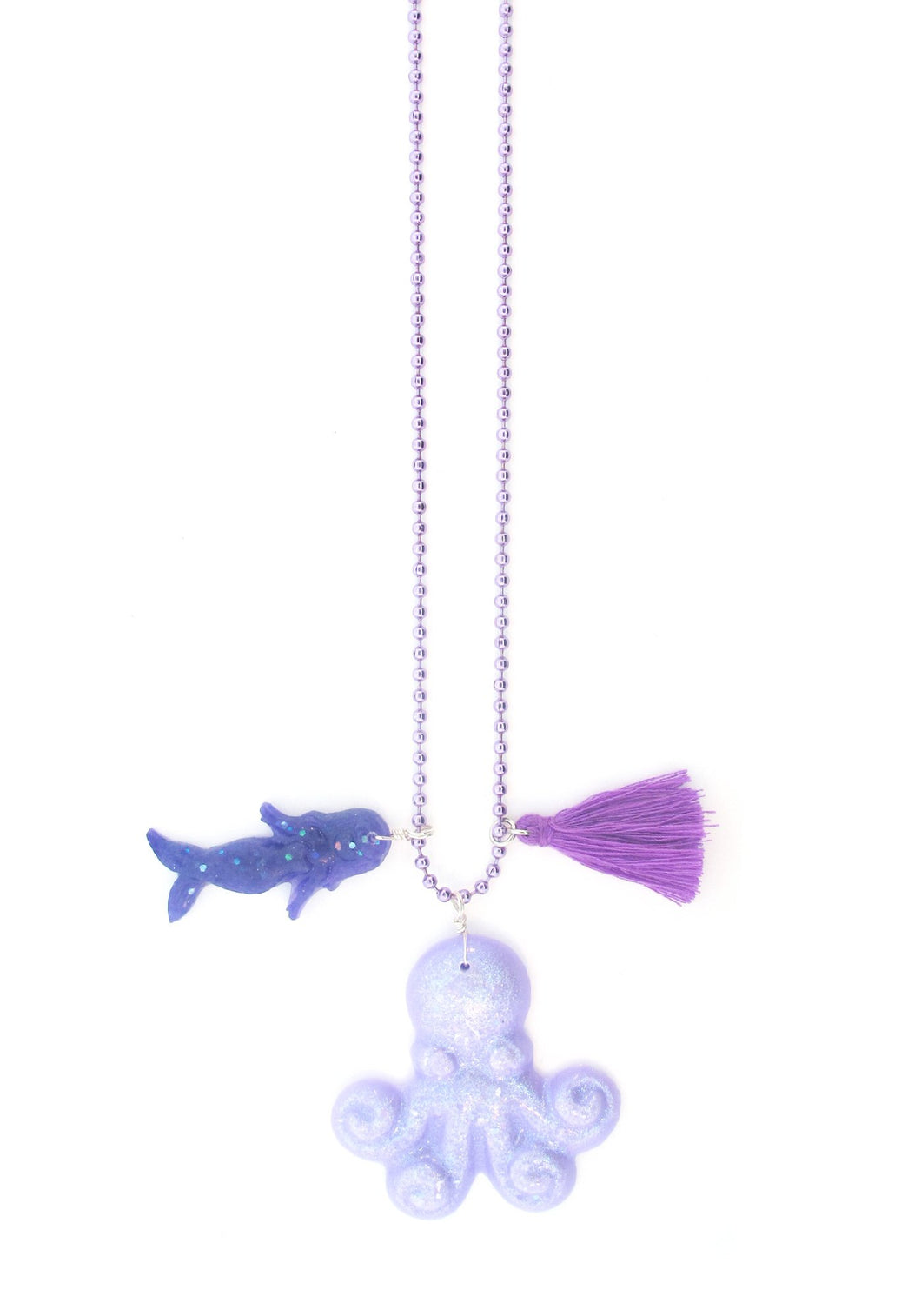 Octopus Resin Necklace + Postcard