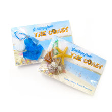 Load image into Gallery viewer, Mermaid Tail Necklace + Postcard