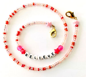 Believe Beaded Mask Chain