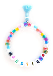 """Bestie"" Words of Wisdom Stretch Bracelet"