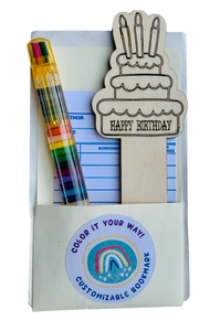 DIY Bookmark Kit Birthday Cake