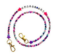 Load image into Gallery viewer, Pink  Beaded Mask Chain Choosy Joy