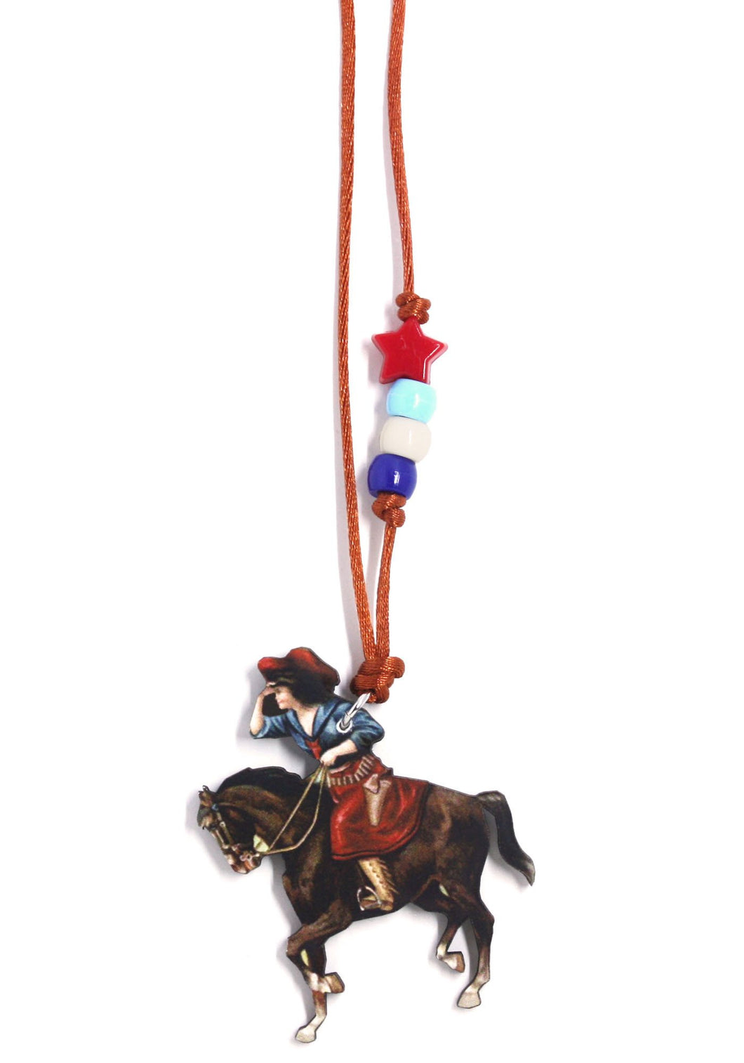 Red Star Cowgirl Little Lessons Necklace