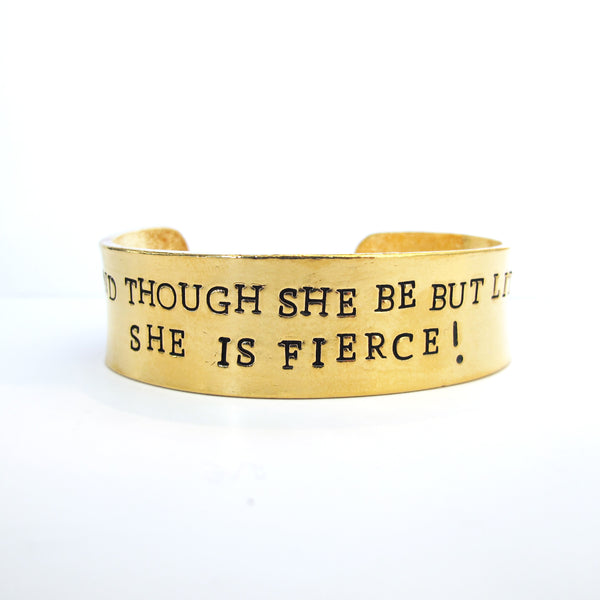 'And Though She Be But Little...' Cuff
