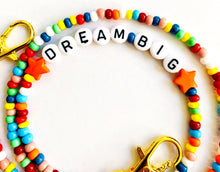 Load image into Gallery viewer, Rainbow Beaded Mask Chain Dream Big