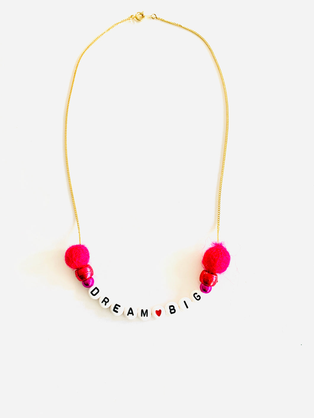 Dream Big Meaningful Pom Pom Necklace