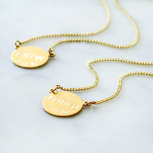 Load image into Gallery viewer, Personalized Engraved Necklace