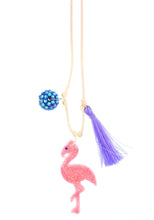 Load image into Gallery viewer, Flamingo Resin Necklace + Bookmark