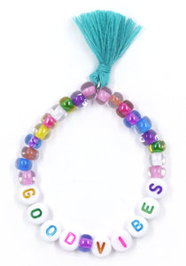 """Good Vibes"" Words of Wisdom Stretch Bracelet"