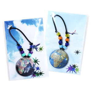 Royal Blue Globe Little Lessons Necklace