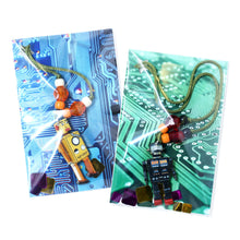 Load image into Gallery viewer, White Robot Little Lessons Necklace