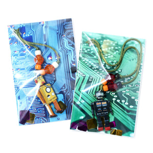 White Robot Little Lessons Necklace