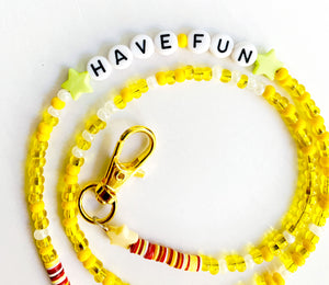 Have Fun Beaded Mask Chain