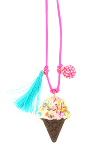 Ice Cream Resin Necklace + Bookmark