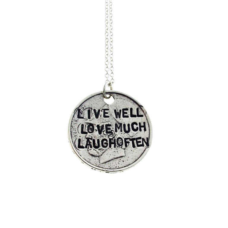 Live Well Love Much Laugh Often Necklace