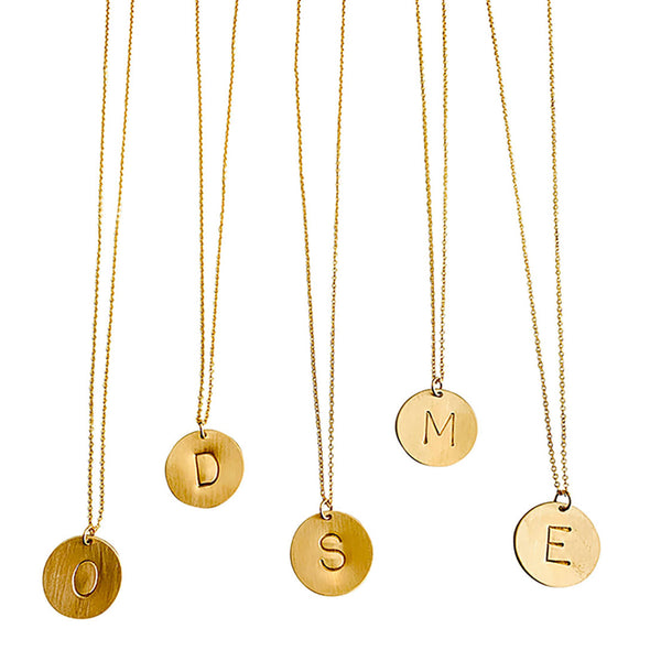 GOLD FILLED INITIAL NECKLACES
