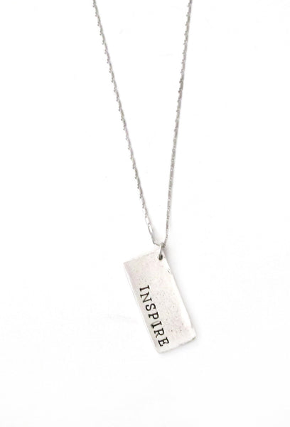 'Inspire' Hand Stamped Necklace