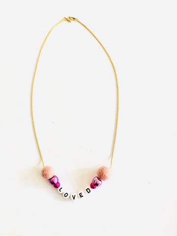 'Loved' Mini Mantra Flat Ring