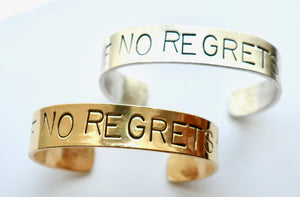 No Regrets Cuff Bracelet