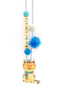 """Pawsome"" Cat Push-Pop Necklace"
