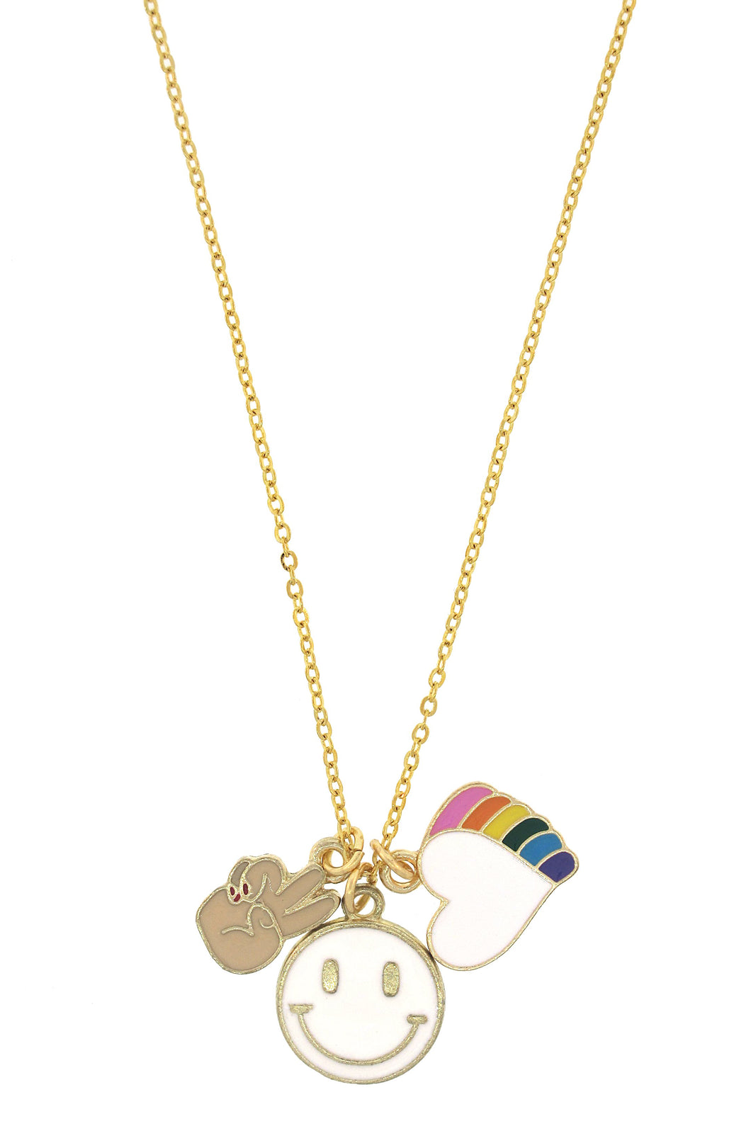 Peace, Love, Happiness Fun in the Sun Necklace