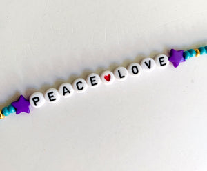 Peace Love Beaded Mask Chain