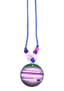 Planet Jupiter (Purple) Little Lessons Necklace