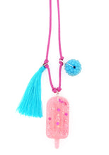 Load image into Gallery viewer, Popsicle Resin Necklace + Bookmark