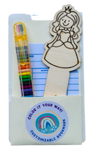 Load image into Gallery viewer, DIY wood bookmark kit princess