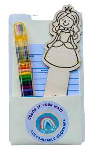 DIY wood bookmark kit princess