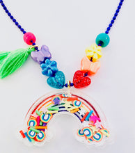 Load image into Gallery viewer, rainbow acrylic shaker neckalce