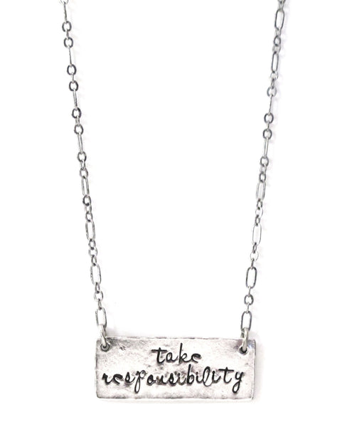 'Take Responsibility' Hand Stamped Necklace