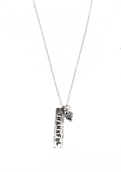 'Thankful' Stamped Necklace