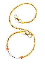 Load image into Gallery viewer, Golden Colors Beaded Mask Chain Sparkle
