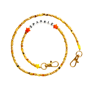 Golden Colors Beaded Mask Chain Sparkle
